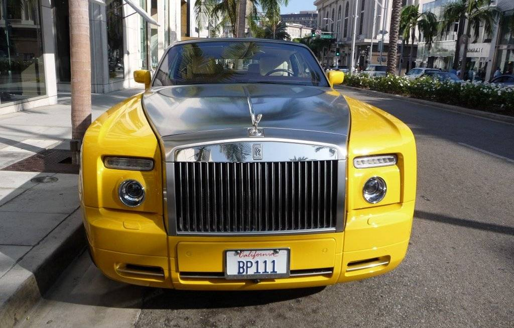 Rolls Royce Phantom Drophead Coupe Semaphore Yellow Silver