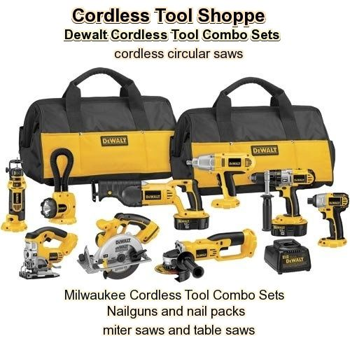 cordless tool combo sets                               click here if the banner is blank